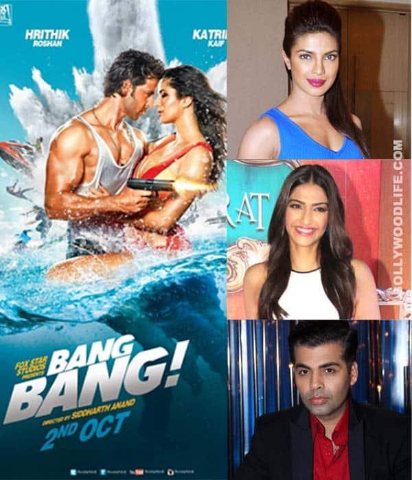 Priyanka Chopra, Sonam Kapoor and Karan Johar bowled over by Hrithik Roshan and Katrina Kaif's Bang Bang teaser!