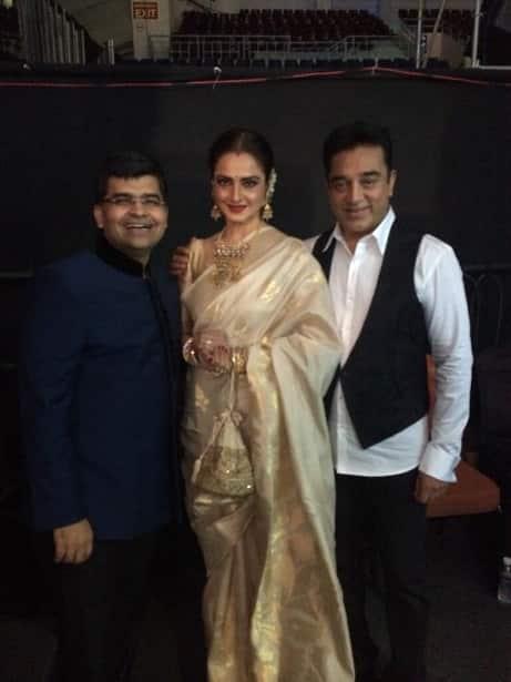 61st Filmfare Awards South : Kamal Haasan, Rekha, Dhanush, Mahesh Babu spotted – view pics!
