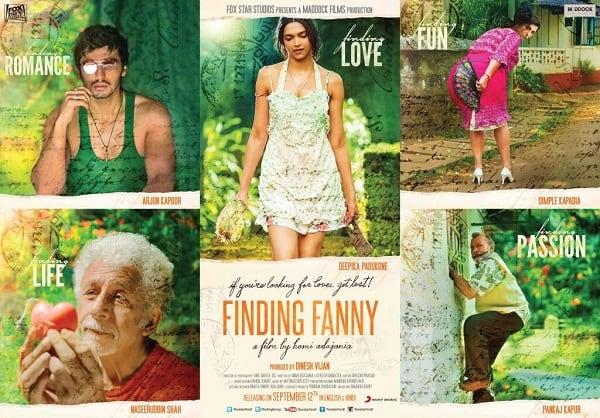 Finding Fanny poster: Dimple Kapadia shines in the poster of the Deepika Padukone-Arjun Kapoor starrer
