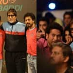 Amitabh Bachchan enjoys a Kabaddi match with Shah Rukh Khan, Aamir Khan and Sachin Tendulkar!