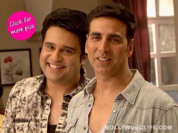Akshay Kumar promotes Entertainment on the sets of Badi Dooooor Se Aaye Hain- View pics!