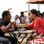 Ajay Devgn and Kareena Kapoor cheat their diets while shooting for Singham Returns!