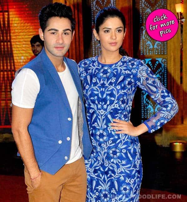 Deeksha Seth and Armaan Jain on the sets of Entertainment Ke Liye Kuch Bhi Karega- View pics!