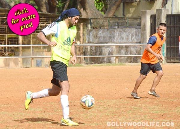 Ranbir Kapoor, Raj Kundra and Dino Morea spotted playing football- View pics!