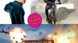 Salman Khan's Kick action shot in Rohit Shetty style?
