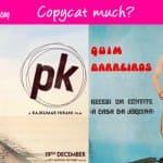 Aamir Khan's PK poster a copy of Quim Barreiros' album poster