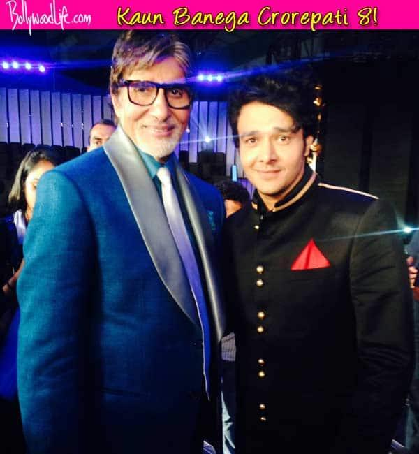 Aniruddh Dave's selfie moment with Amitabh Bachchan on Kaun Banega Crorepati8