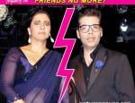 Karan Johar and Kajol avoid crossingpaths