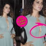 Kangana Ranaut's peek-a-boob moment - watch video!