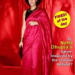 Neha Dhupia's creased saree has decreased her fashion followers!