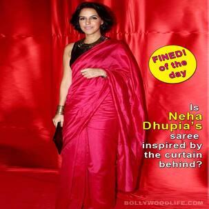 Neha Dhupia's creased saree has decreased her fashion followers!