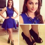 Style check: Parineeti Chopra sports a blue DKNY number on Kaun Banega Crorepati 8
