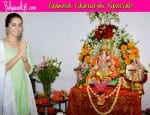 Ganesh Chaturthi 2014: Shraddha Kapoor and Shakti Kapoor seek blessings from Lord Ganesha – View pics!