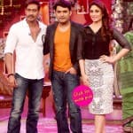 Ajay Devgn and Kareena Kapoor promote Singham Returns on Comedy Nights with Kapil- View pics!