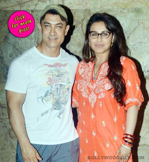 Aamir Khan attends screening of Rani Mukerji's Mardaani-view pics!