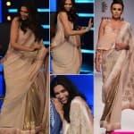 Deepika Padukone promotes Finding Fanny in a Nikasha saree