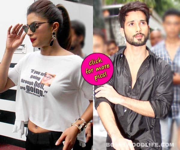 Ex flames Shahid Kapoor and Priyanka Chopra avoid each other?