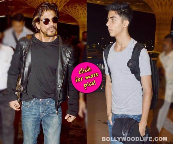 Shah Rukh Khan and Aryan Khan spotted at the airport- View pics!