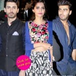 Sonam Kapoor and Fawad Khan shoot for Khoobsurat, Arjun Kapoor pays a surprise visit on set- View pics!