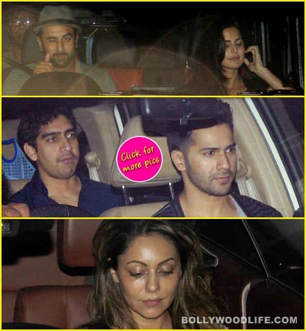 Ranbir Kapoor, Katrina Kaif, Varun Dhawan, Sonakshi Sinha attend Karan Johar's party -  View pics!