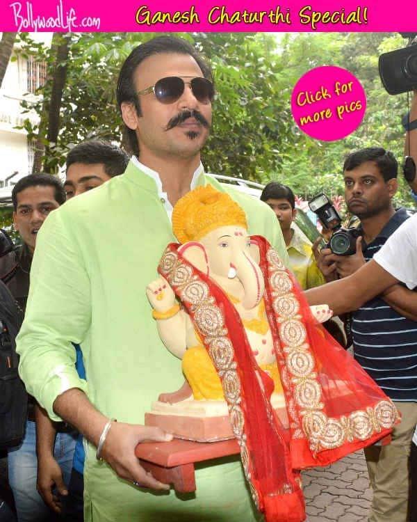 Ganesh Chaturthi 2014: Vivek Oberoi brings home Lord Ganesha – View pics!