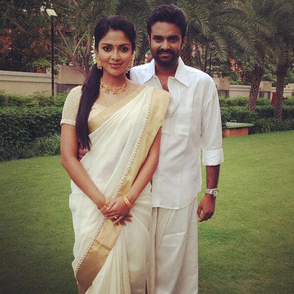 AL Vijay celebrates Onam with Amala Paul