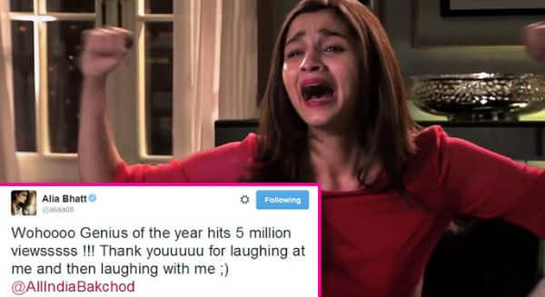 Alia Bhatt's Genius of the Year video hits 5 million views!