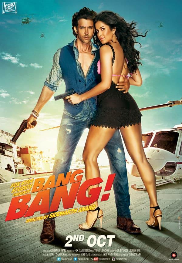 Revealed: Hrithik Roshan and Katrina Kaif's sexy third poster for Bang Bang!