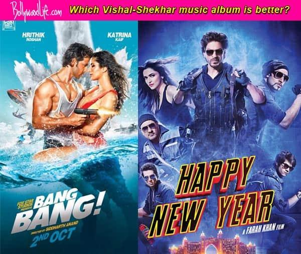 Shah Rukh Khan's Happy New Year or Hrithik Roshan's Bang Bang – whose music album do you like more? Vote!