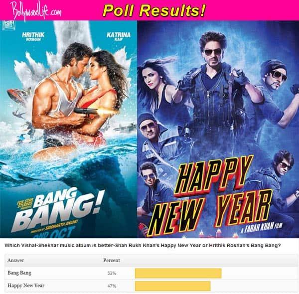 Hrithik Roshan-Katrina Kaif's Bang Bang music better than Shah Rukh Khan-Deepika Padukone's Happy New Year, say fans!