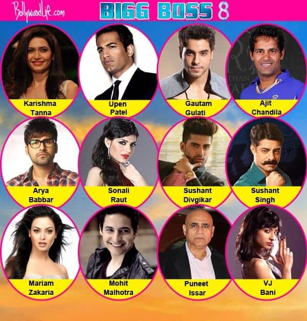 Bigg Boss 8 final contestant list: Arya Babbar, Karishma Tanna, Upen Patel confirmed for Salman Khan's show!