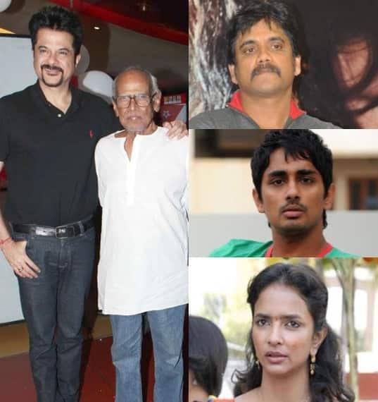 Anil Kapoor, Akkineni Nagarjuna, Siddharth and Lakshmi Manchu condole Bapu'sdemise!