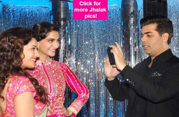 Karan Johar turns photographer for Sonam Kapoor and Madhuri Dixit-Nene- View pics!