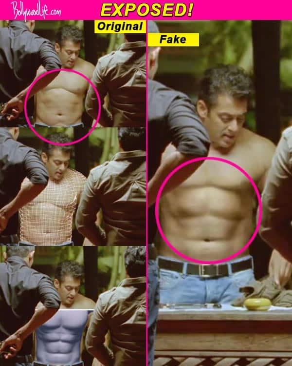 Salman Khan's six-pack abs fake?
