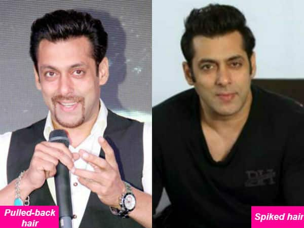 Salman Khan in pulled back hair or spiked hair: Which do you like better? Vote Now!