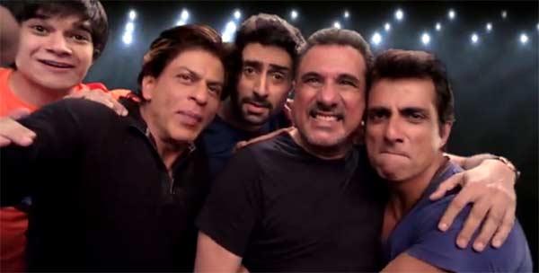 Shah Rukh Khan, Abhishek Bachchan, Sonu Sood, Boman Irani and Vivaan Shah promote Happy New Year's Slam Tour!