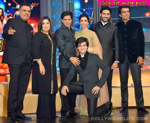 Shah Rukh Khan, Deepika Padukone and the Happy New Year team at music launch- View pics!