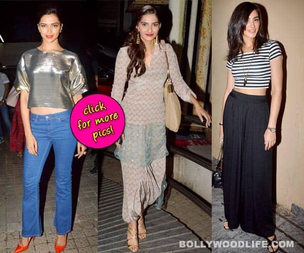 Deepika Padukone, Sonam Kapoor, Nargis Fakhri: The most fashionable celebs at the screening of Finding Fanny!