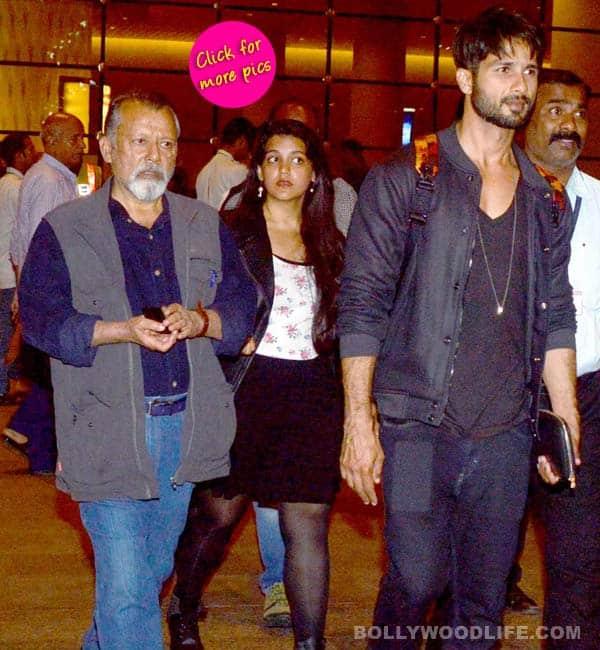 Shahid Kapoor and father Pankaj Kapur return back to town after shooting Shandaar!