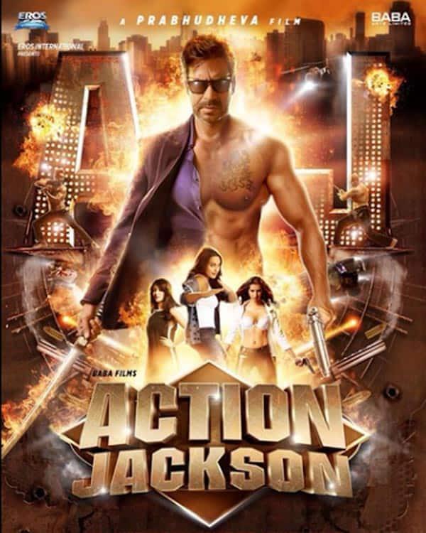 Action Jackson poster: Ajay Devgn-Sonakshi Sinha-Yami Gautam starrer action flick reminds of Singham!