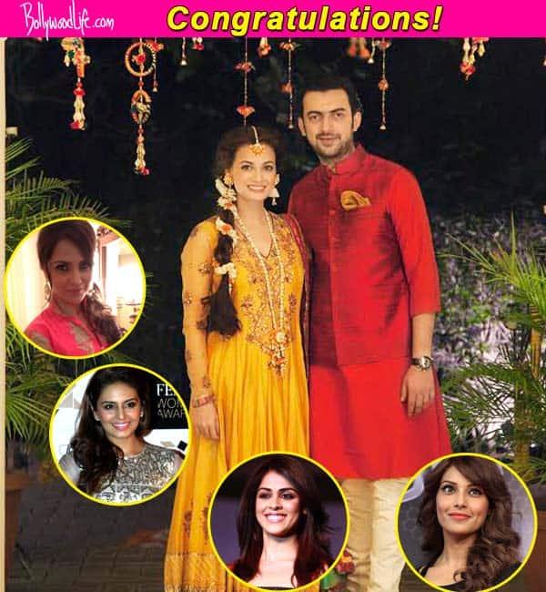 Huma Qureshi, Lara Dutta, Bipasha Basu and Genelia D'Souza wish Dia Mirza on her wedding to Sahil Sangha!