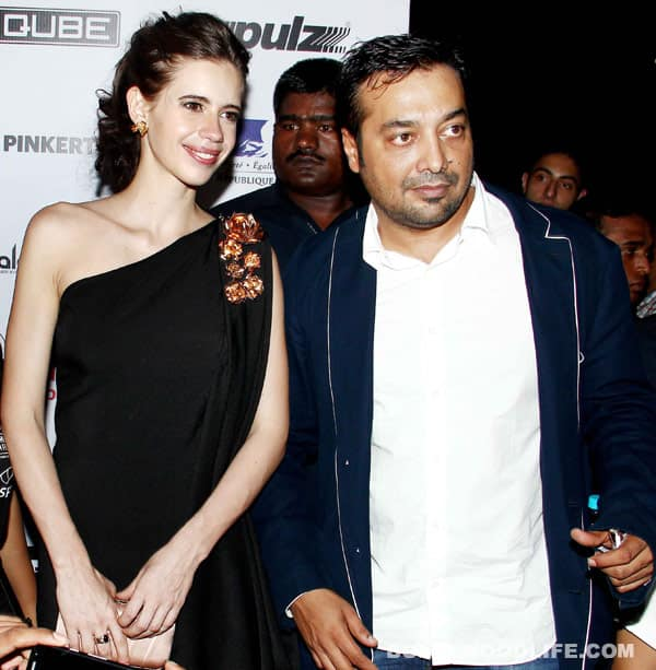 Kalki Koechlin and Anurag Kashyap pose together at the MAMI opening!