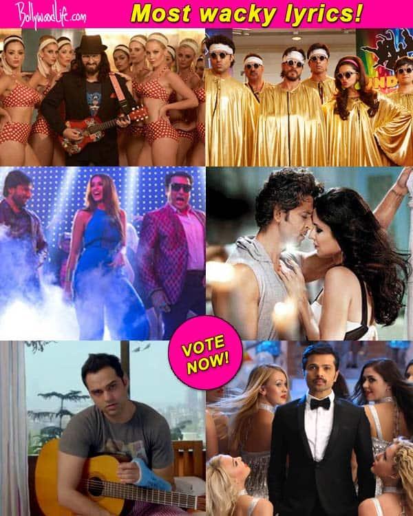 Which film has the wackiest lyrics – Saif Ali Khan's Happy Ending, Shah Rukh Khan's Happy New Year or Hrithik Roshan's Bang Bang? Vote!