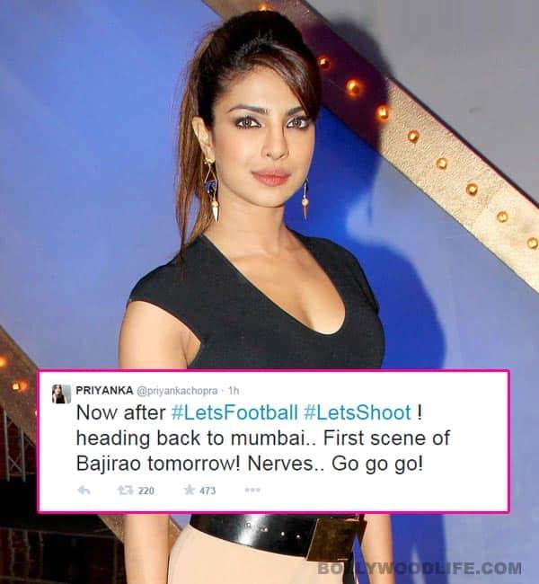 Priyanka Chopra to shoot her first scene for Sanjay Leela Bhansali's Bajirao Mastani tomorrow!
