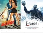Shahid Kapoor's Haider and Hrithik Roshan's Bang Bang, both impress fans equally!