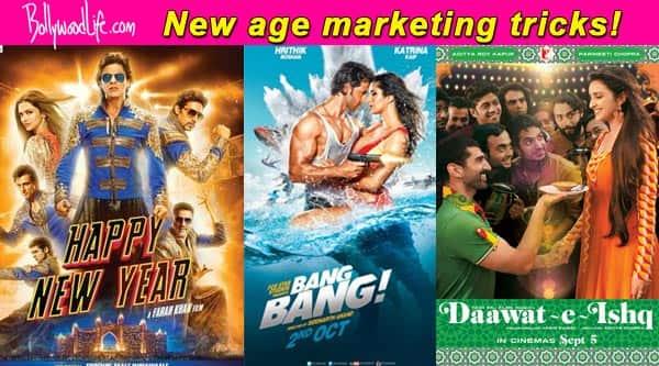Unique marketing ideas: Shah Rukh Khan's Happy New Year, Hrithik Roshan's Bang Bang, Parineeti Chopra's Daawat-E-Ishq!