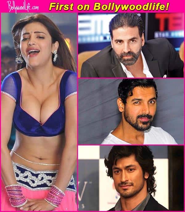 Shruti Haasan to be paired opposite Akshay Kumar, John Abraham and Vidyut Jamwal in 2015!