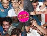Hrithik Roshan's over enthusiastic fan pounced on him after the Bang Bang screening!