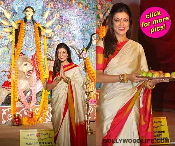 Sushmita Sen celebrates Durga Puja!