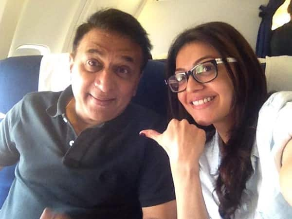 Kajal Aggarwal bonds with Sunil Gavaskar!